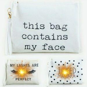 Handbags - LAST ONE Cute Cosmetic Bag Wristlet